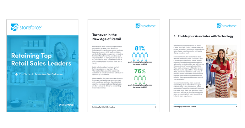 White Paper Cover of Retaining Top Retail Sales Leaders