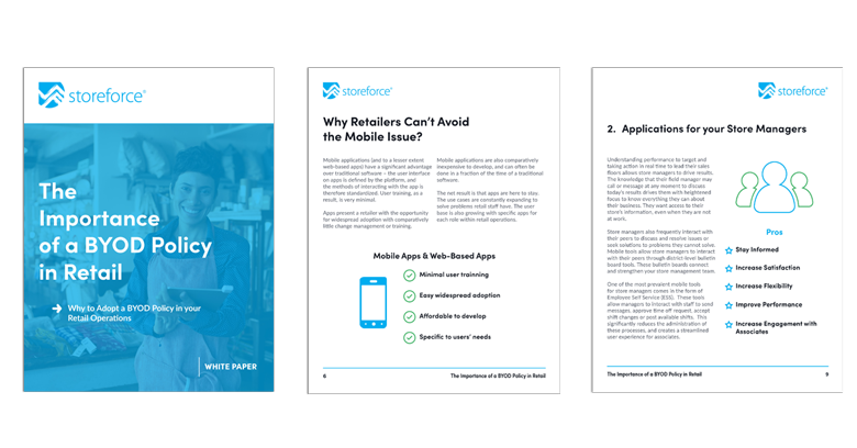 White Paper Cover of The Importance of a BYOD Policy in Retail