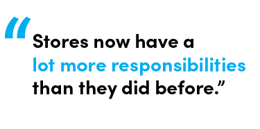 Stores now have a lot more responsibilities than they did before - Quote by Chris Matichuk